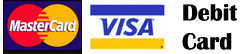 master Card, Visa, Debit